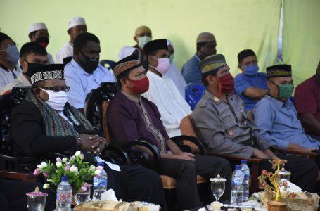 Wakil Bupati, Ketua DPRD beserta Forkopimda Dalam Acara Pemancangan Tiang Alif Masjid Nurul Ukhuwa Kampung Trikora