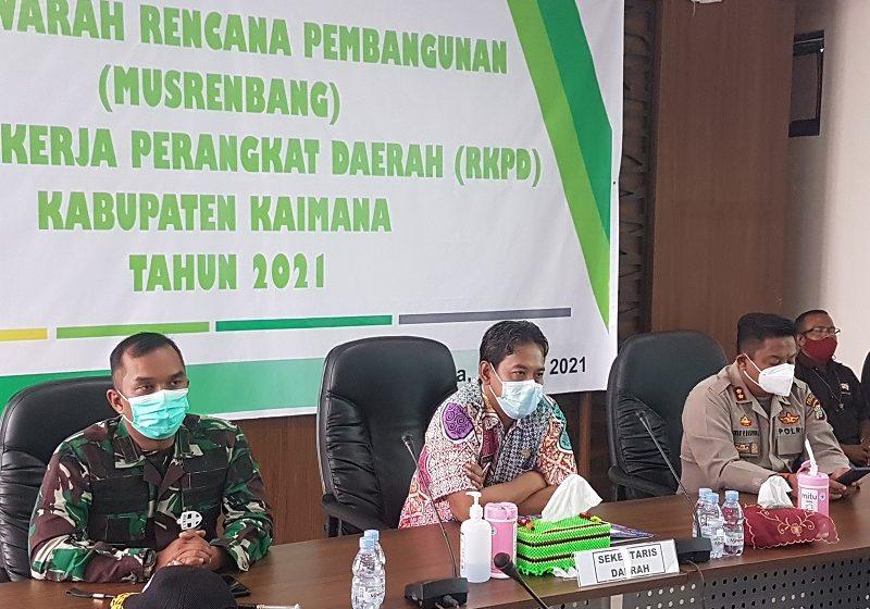 MUSREMBANG RKPD Kabupaten Kaimana tahun 2021 di Ruang Rapat Kantor Bupati Kaimana
