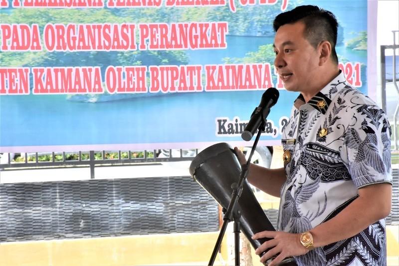 Pembentukan Dan Launching Unit Pelaksana Teknis Daerah (UPTD) Persampahan Terpadu oleh Bupati Kaimana